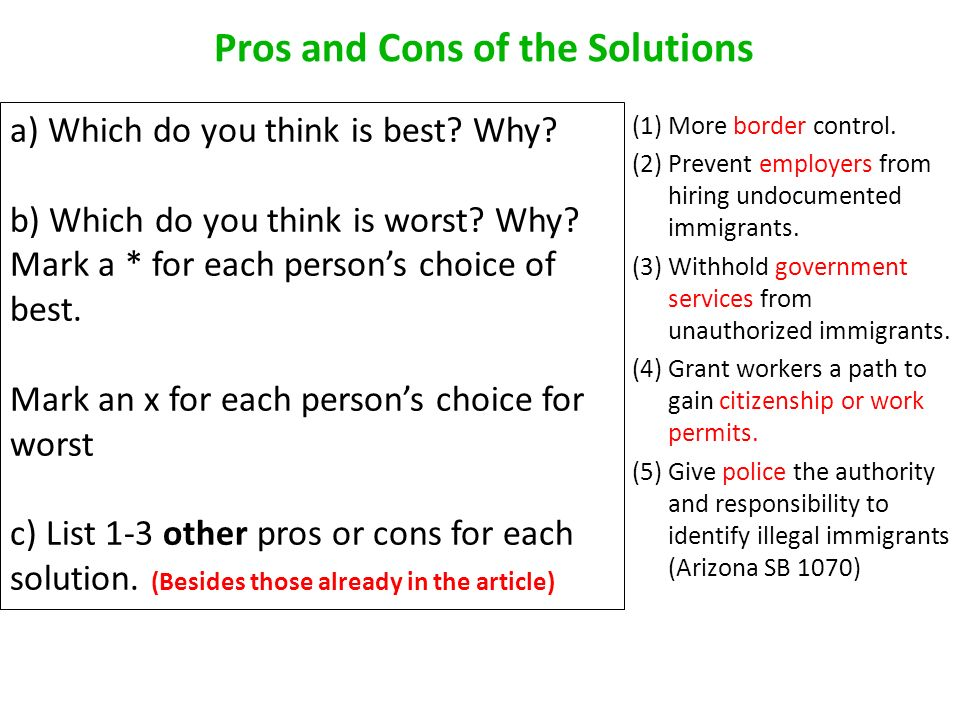 immigration pro and cons essay