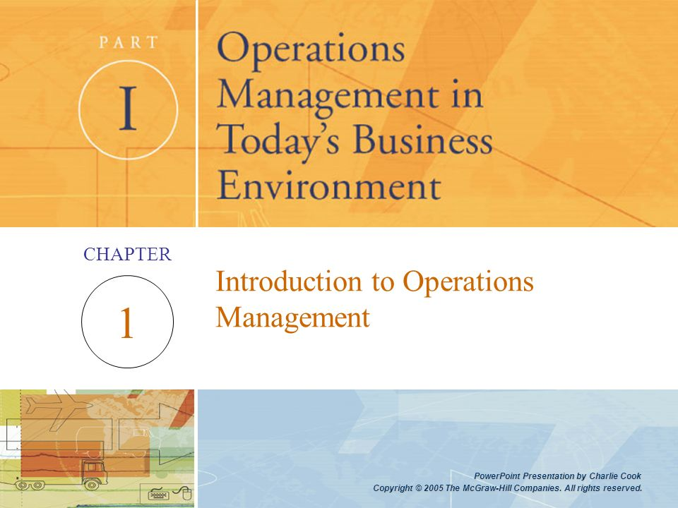 operations management introduction An introduction to the operations management concepts business essay  roles in ensuring the operations of an organisation run smoothly  management might also .