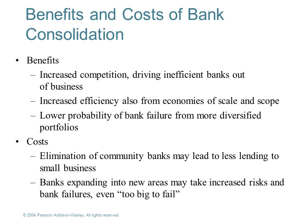 impact of bank consolidation on small business lending Business lending practices or financial institution consolidation best explain the decline in the banks' small-business concentrations controlling for the effects of .