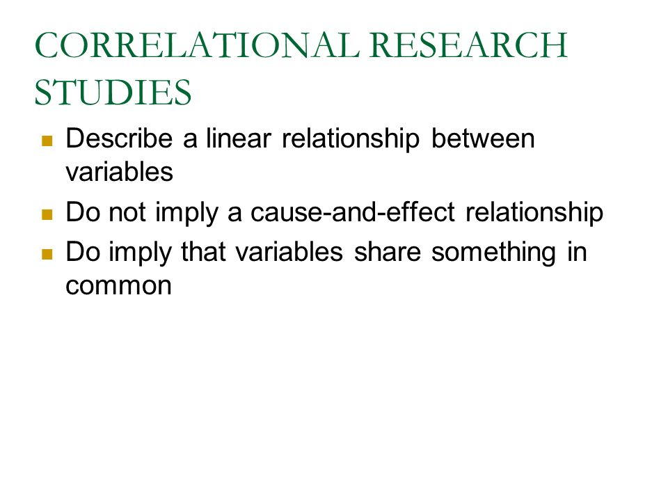 correlation in research