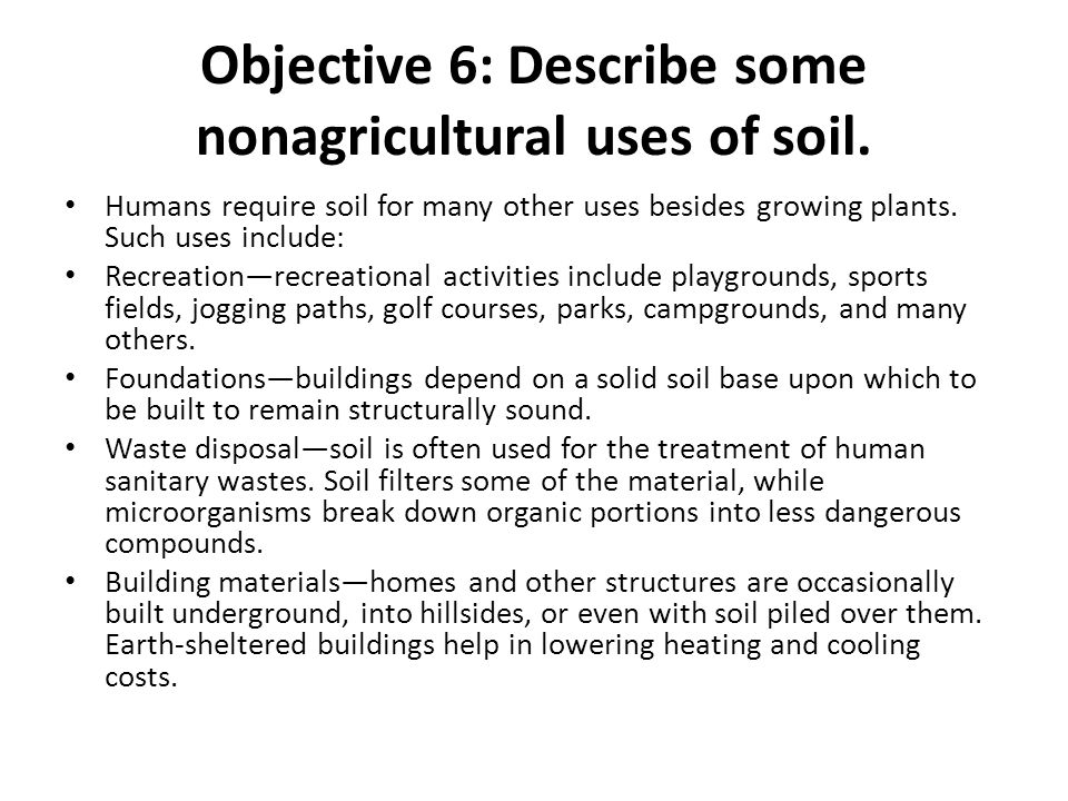 Determining the nature of soil ppt video online download for Three uses of soil