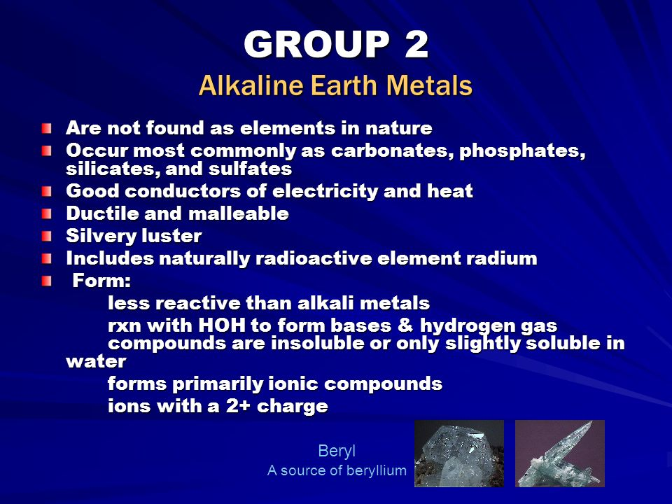 Elements chemical physical properties ppt video online download group 2 alkaline earth metals urtaz