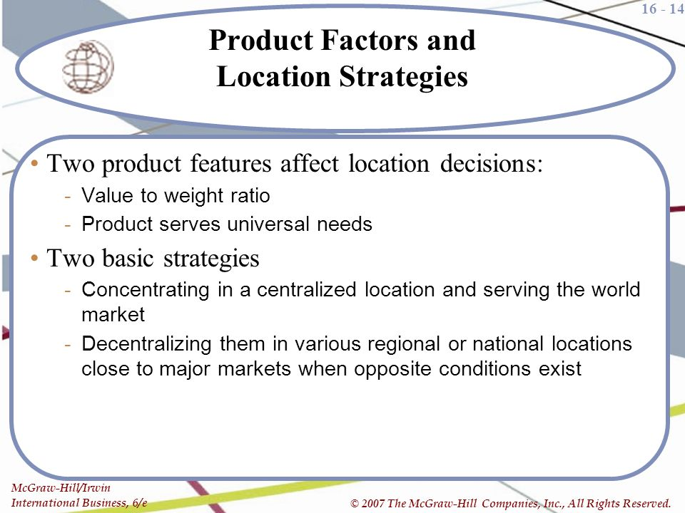 Product Factors and Location Strategies. Global Production  Outsourcing  and Logistics   ppt video online