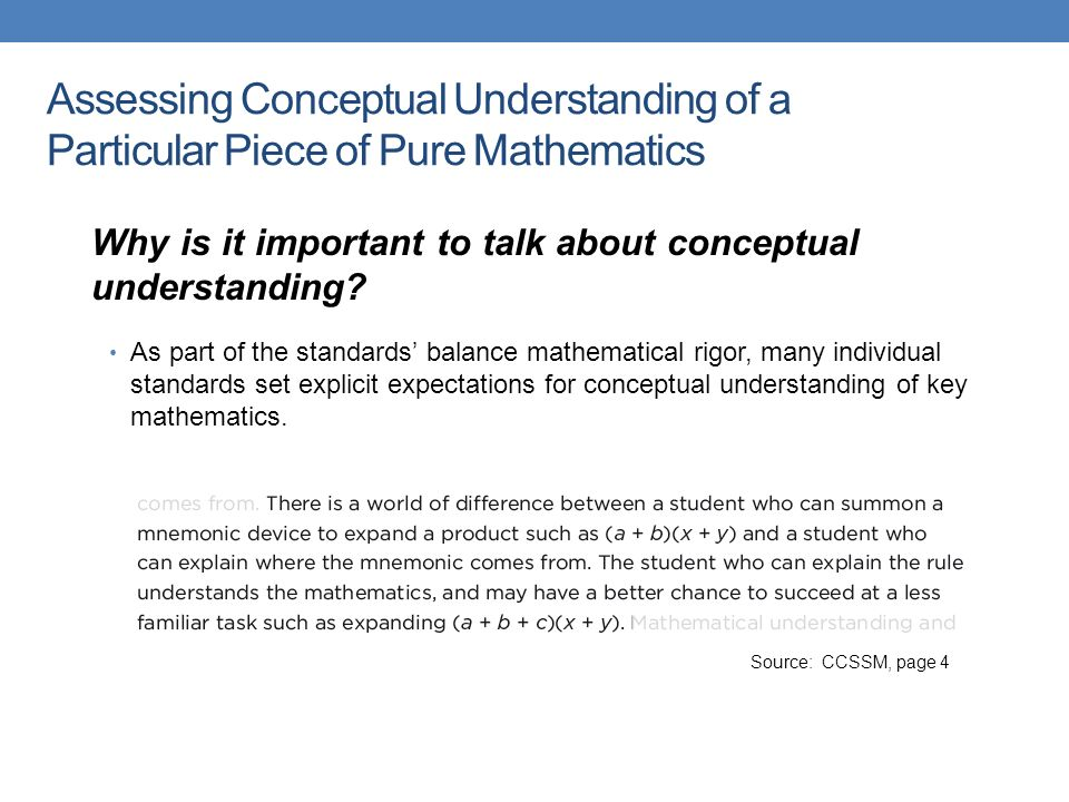 what is the importance of having standards in mathematics Excellence in mathematics education requires equity—high expectations and  strong support  assessment should support the learning of important  mathematics and furnish  the standards for school mathematics describe the  mathematical.