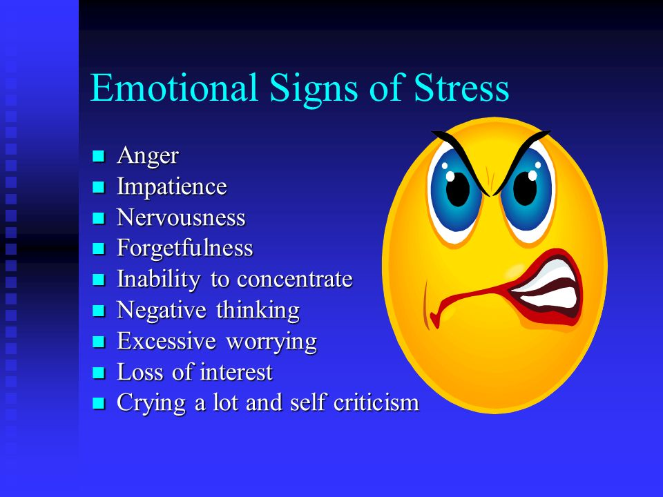 Signs Of Teen Stress Physical 119