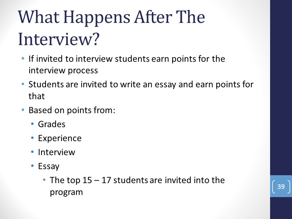 write an interview essay