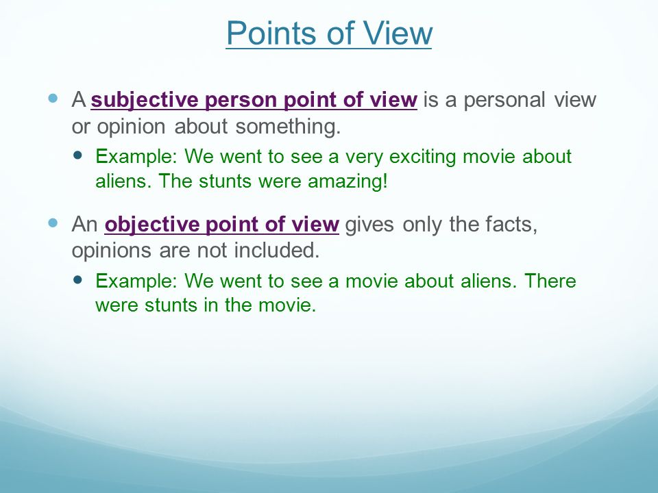 explain the points of view of Learning to analyze and critically evaluate ideas, arguments, and points of view series editor: michael theall, youngstown state university authors: patricia.