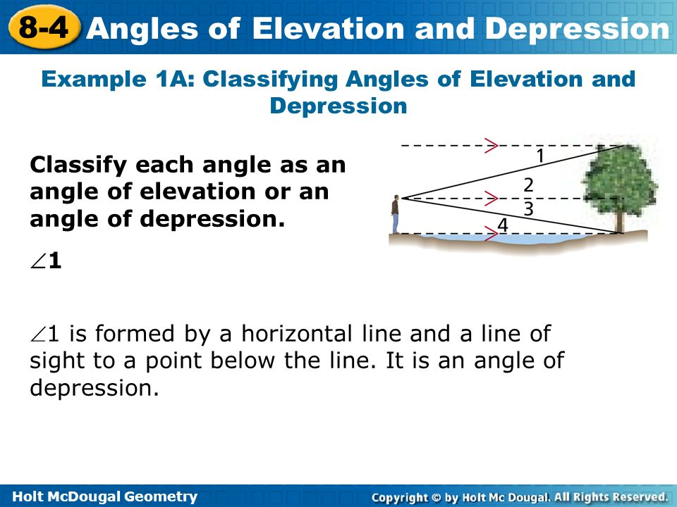 angles of elevation 8 4 and depression lesson presentation ppt video online download. Black Bedroom Furniture Sets. Home Design Ideas