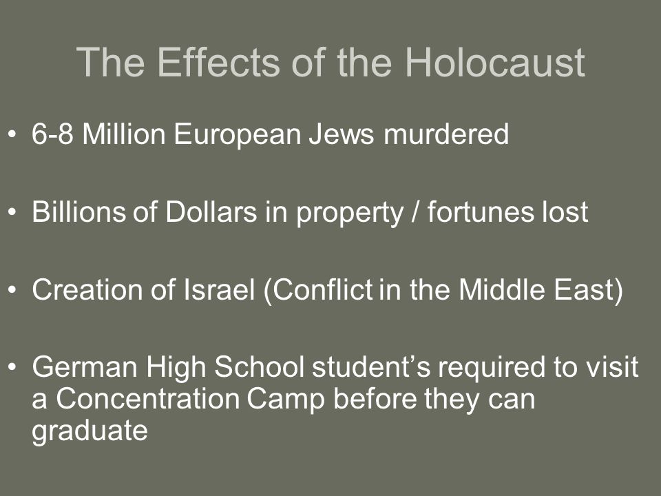 effects of the holocaust essays The holocaust essay examples the long lasting effects of the holocaust on jews 763 words 2 pages the woes of disabled jews during the holocaust 1,393 words 3 pages an analysis and a history of the holocaust caused by hitler essay writing blog.