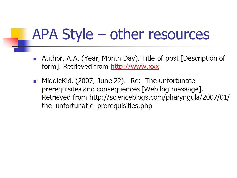 apa style by susan j  breakenridge
