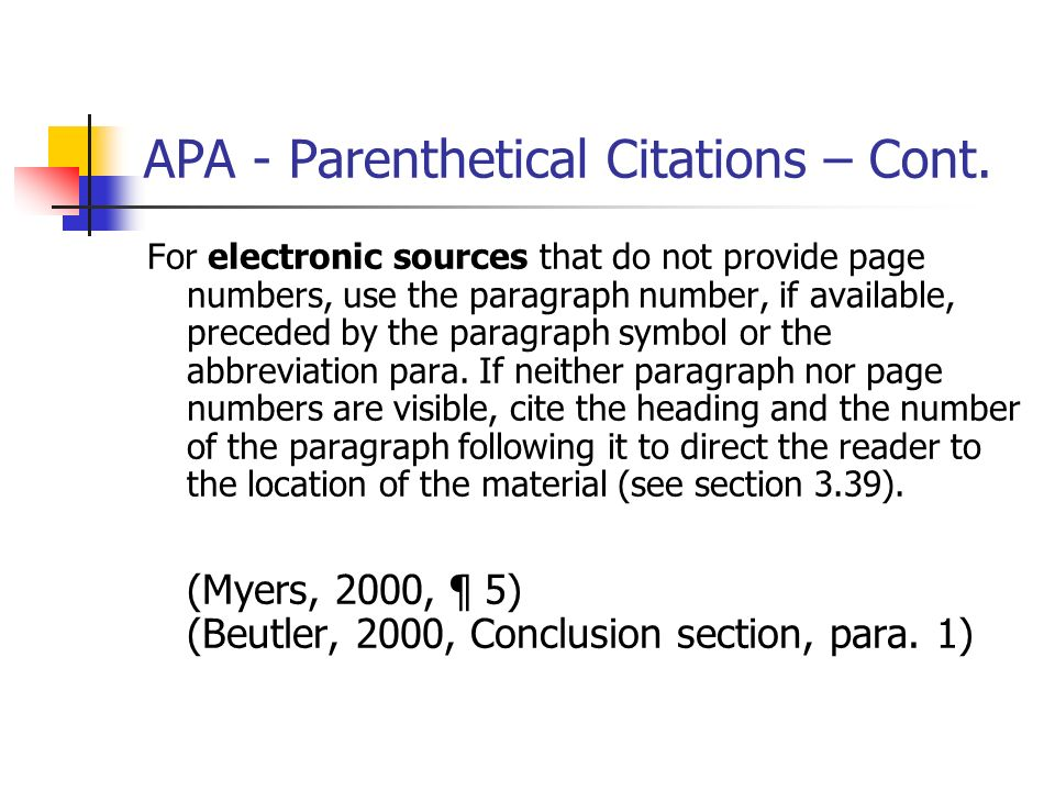 how to add paragraphnumber on apa ciation