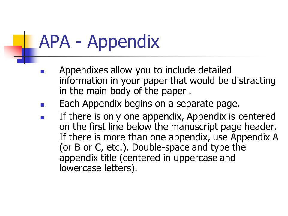 "apa essay with appendix You can use appendices to make sure your paper is not too long, avoid  but "" appendices"" is more common (including in apa style."
