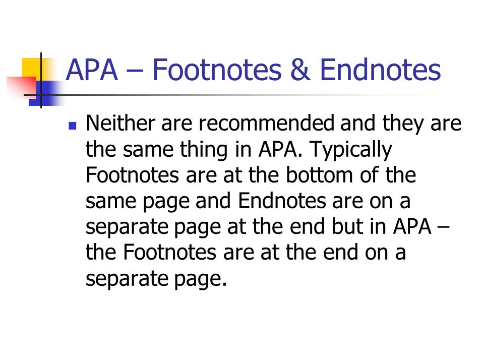 can you use footnotes in apa