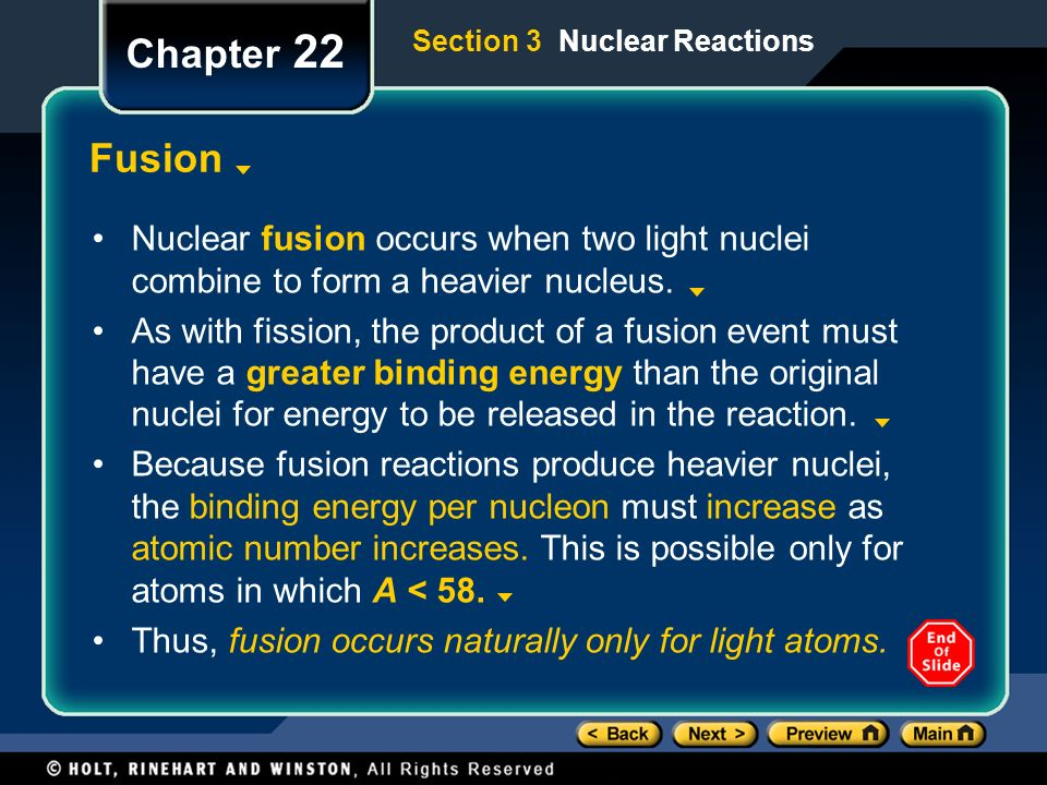 Chapter 22 Preview Objectives Properties of the Nucleus - ppt ...