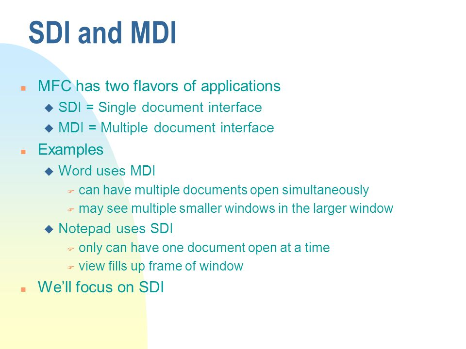 Scribble Sample Mfc Mdi Drawing Application : Microsoft foundation classes ppt download