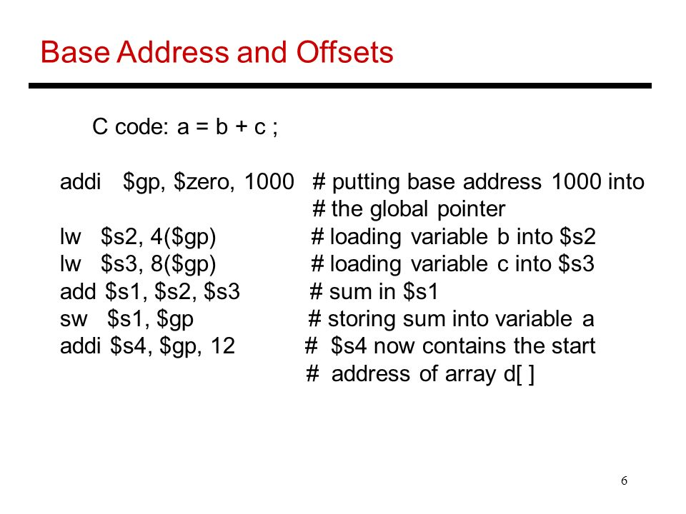 Base Address and Offsets