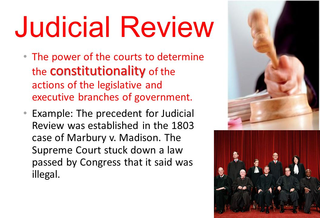 judicial review and the legislative process