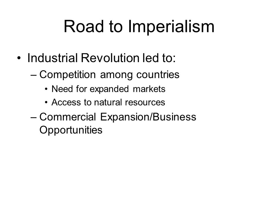 explain how imperialism led to an Overall i will talk about how imperialism existed in the time of american in 19th and 20th century as well as explain the causes  than american imperialism but i.