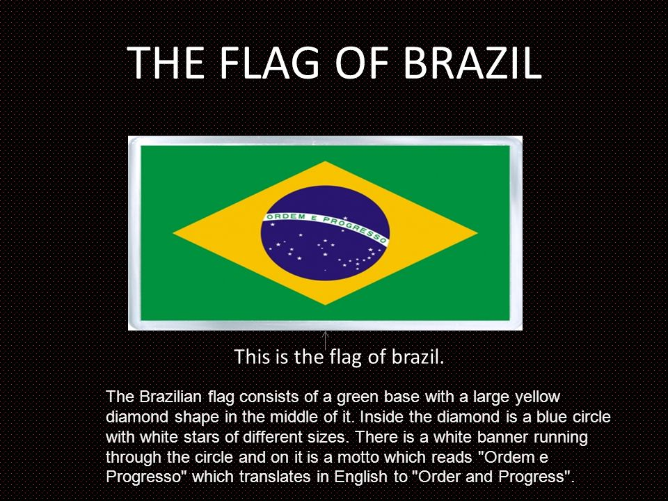 This is the flag of brazil.
