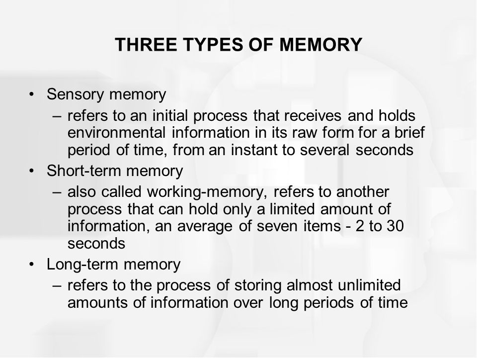 cramming time and long term memory Memory and psychology of memory long term memory refers to retention of information smaller increments of practice over time are stronger than cramming.