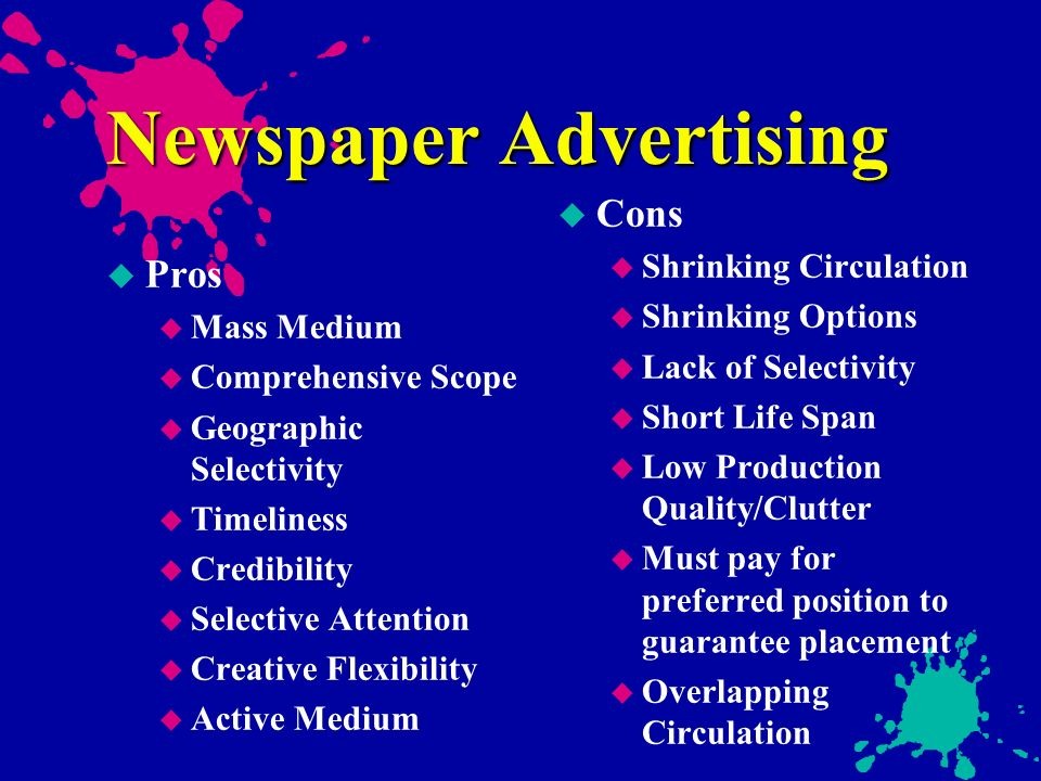 the major role of magazines ads in the advertising of products Media strategy in advertising media strategy plays a very important role in advertising some products need year long ads as they have nothing to do with.