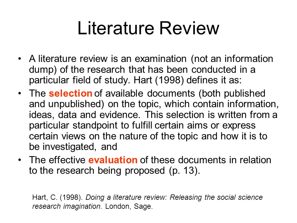 doing literature review A literature review may not have a traditional thesis statement (one that makes an argument), but you do need to tell readers what to expect try writing a simple statement that lets the reader know what is your main organizing principle.