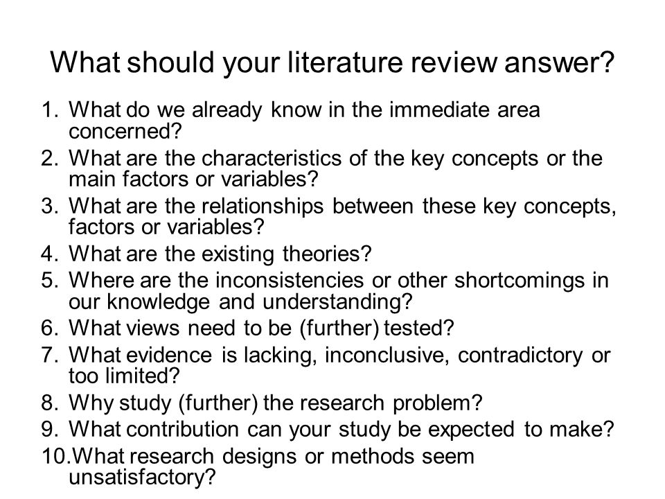 what is literature and why study Literature review tutorial: why do a lit review home what is a lit review  why do we do a literature review to see what has and has not been investigated.