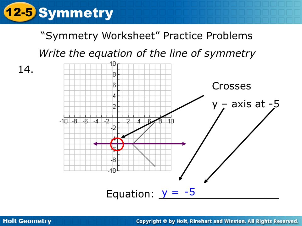 COMPOSITIONS OF TRANSFORMATIONS ppt video online download – Axis of Symmetry Worksheet