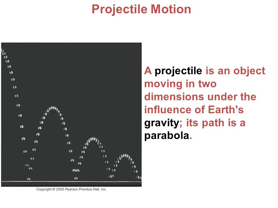 dynamics of two dimensional projectile motion Kinematics in two dimensions dynamics work and energy to analyze the motion, separate the two‐dimensional motion into vertical and horizontal components vertically projectile motion in this example.