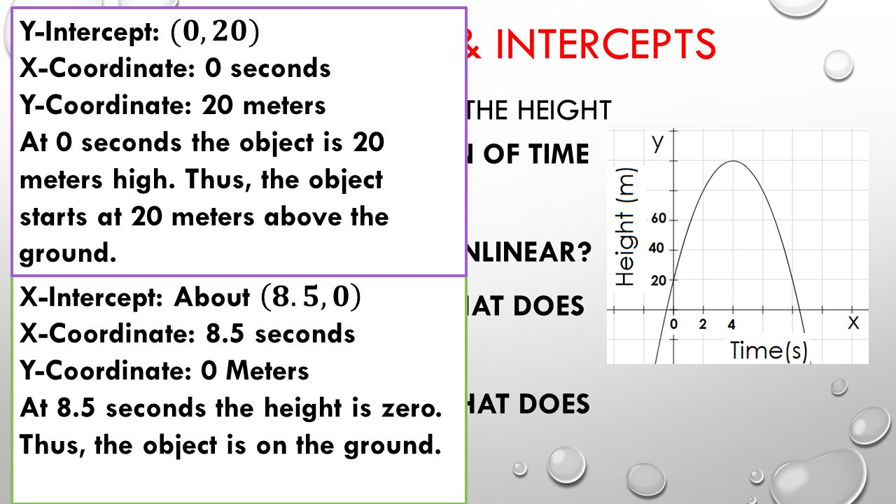 6 Linearity & Intercepts