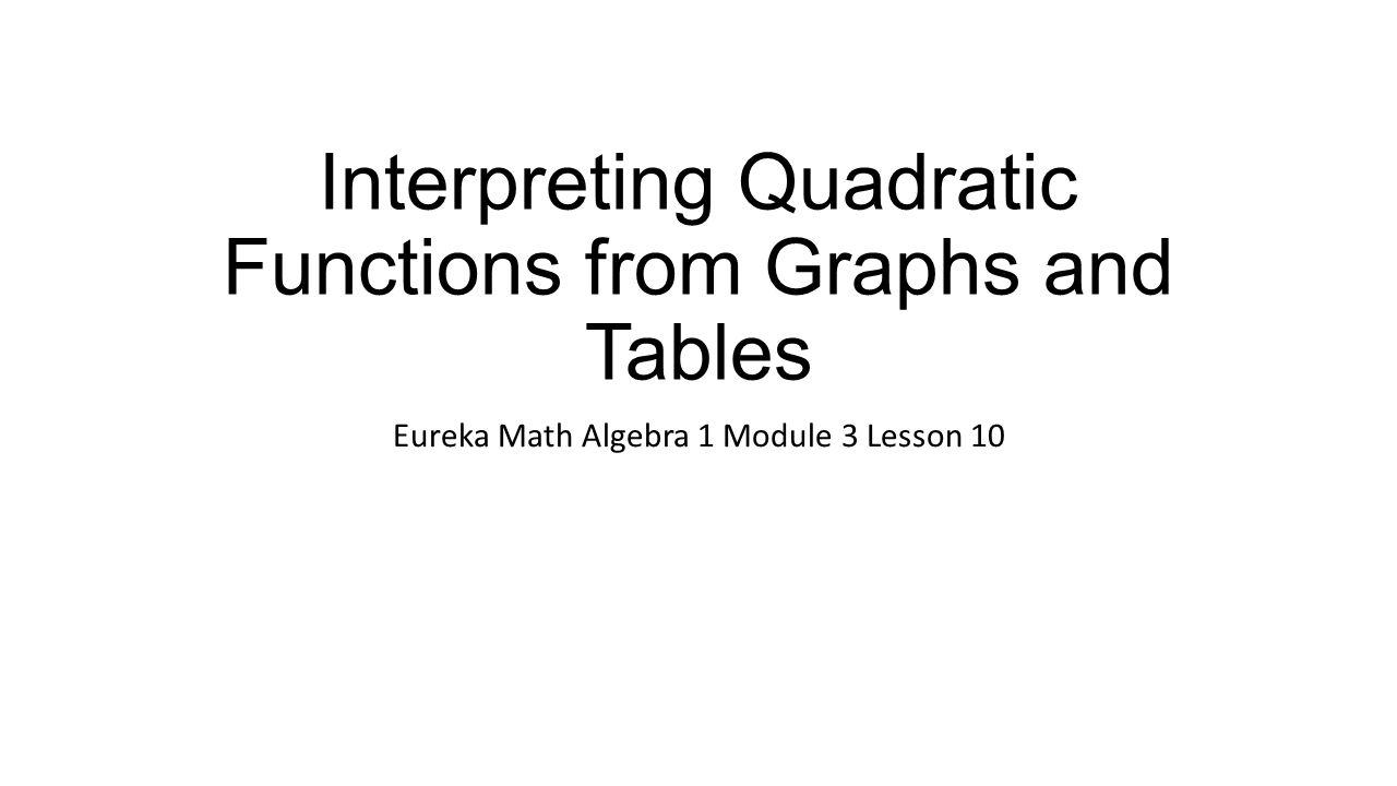 Interpreting quadratic functions from graphs and tables ppt video interpreting quadratic functions from graphs and tables falaconquin