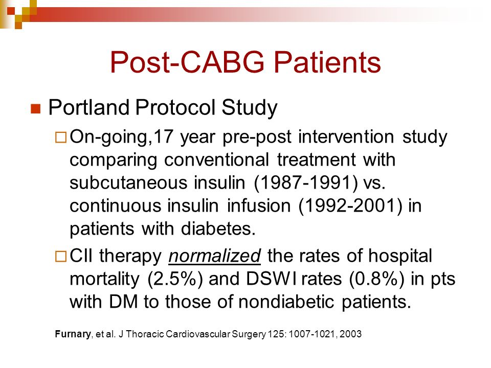 post op care for cabg pts 2012-8-15 general surgery-part i: preoperative care americo d fraboni,  • accomplished by pci or cabg • in most studies pts have undergone pci  – restart post-op.