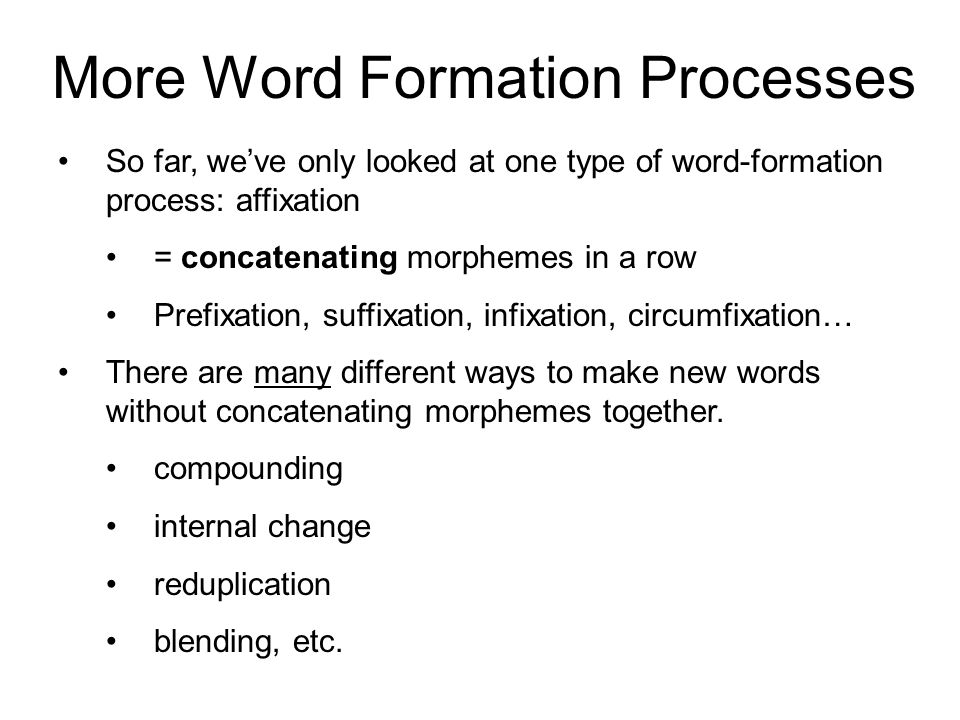 word formation processes