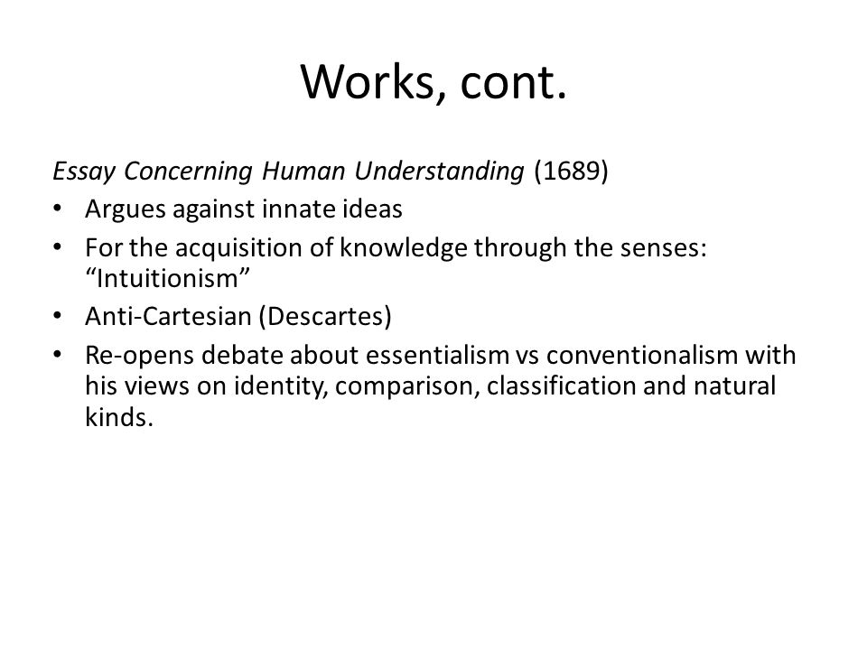 kant essay concerning human understanding