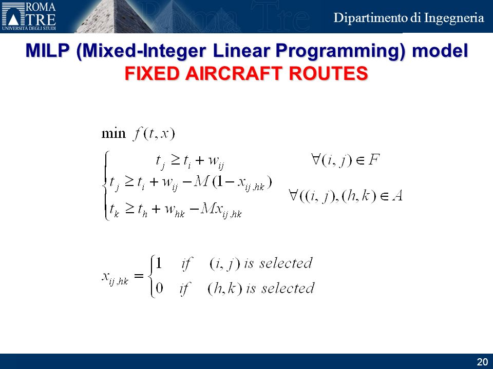 MILP (Mixed-Integer Linear Programming) model