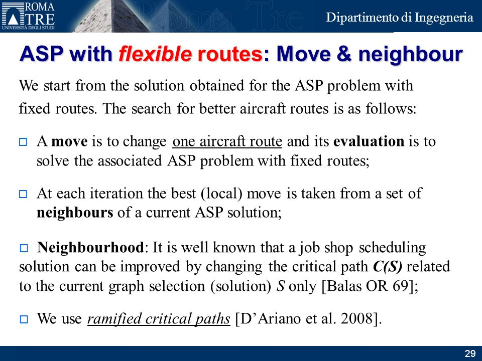 ASP with flexible routes: Move & neighbour