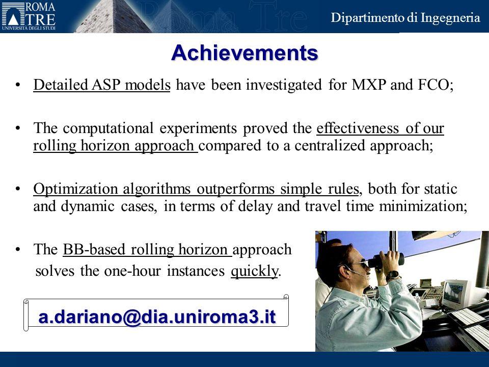 Achievements a.dariano@dia.uniroma3.it
