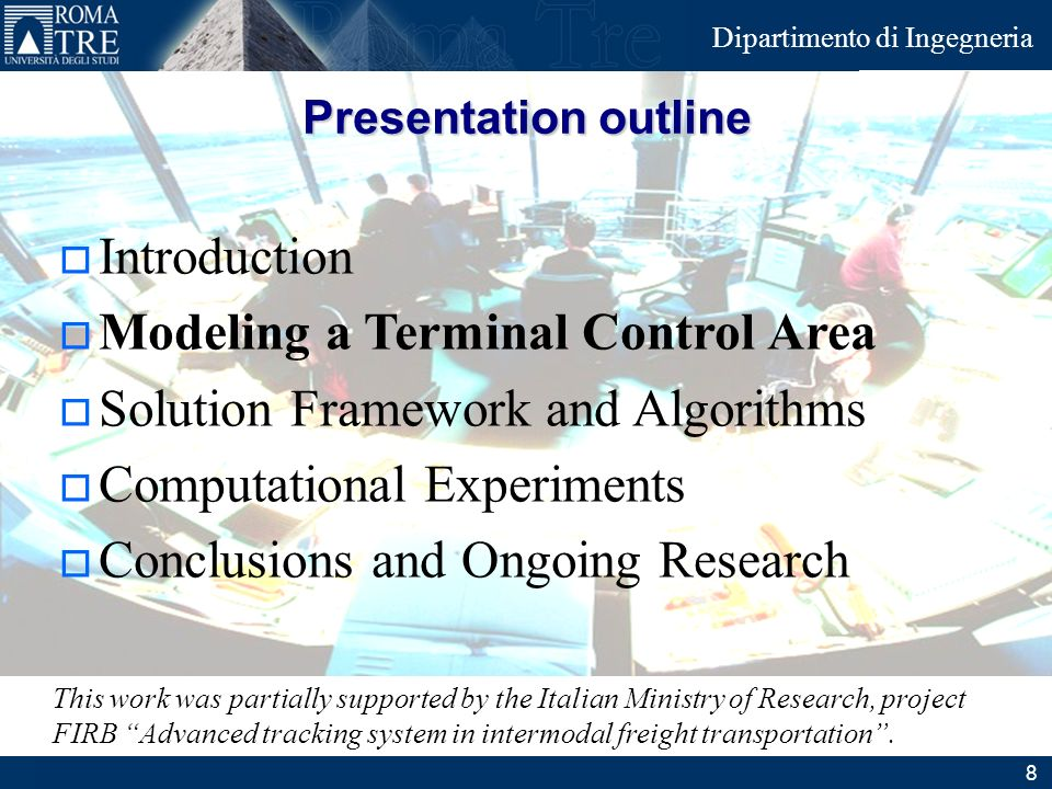 Modeling a Terminal Control Area Solution Framework and Algorithms