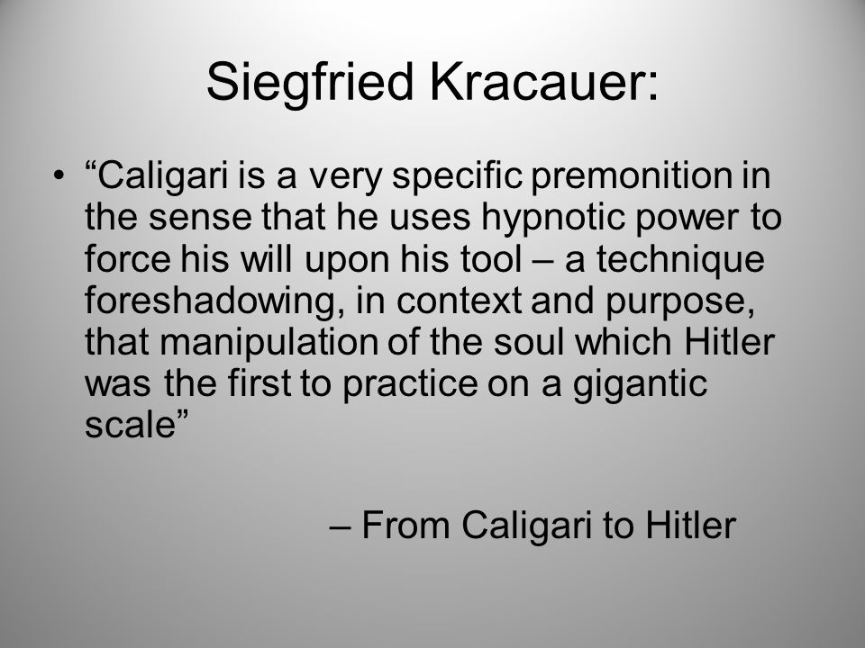 A study of the life and writings of siegfried kracauer