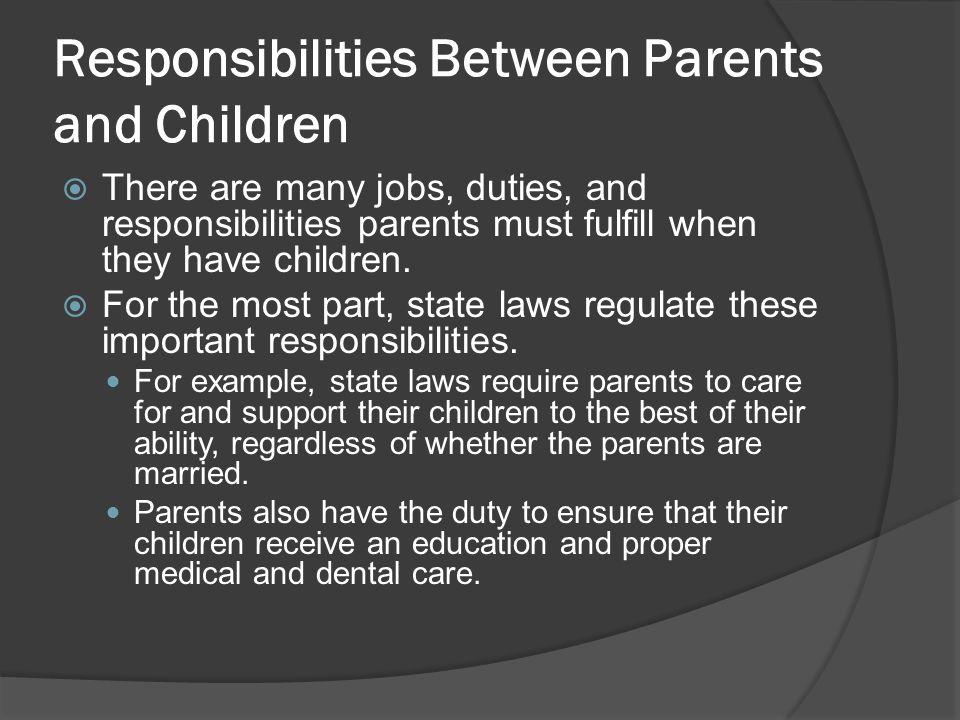Responsibilities Between Parents and Children