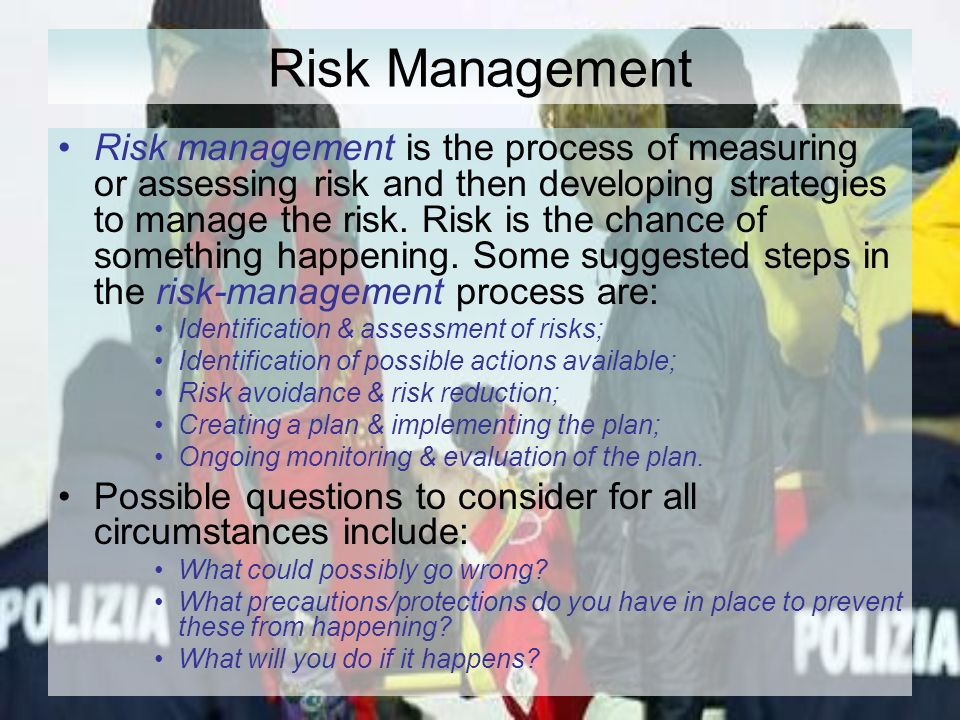risks management and assessing the risk management strategies Here are eight strategies to taking an integrated approach to compliance management and improve your organization's ability to identify and address risk 06 05.