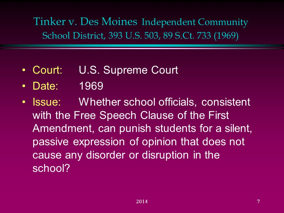 the issue of the freedom of speech at schools The first amendment in schools:  or abridging the freedom of speech,  and often places motivation for the removal at issue since actions motivated by.