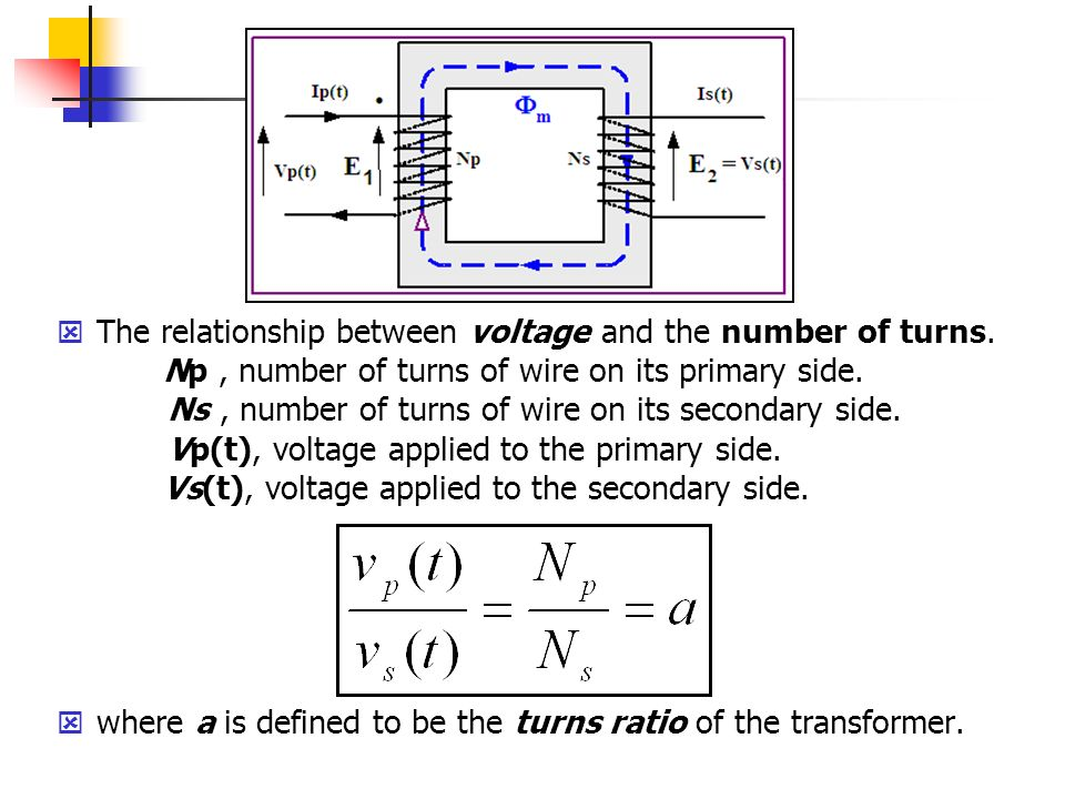 voltage and current relationship of an auto transformer