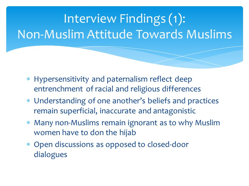 interview with a muslim essay Continue for 4 more pages » • join now to read essay cultural interview and assessment of a muslim immigrant and other term papers or research documents read full document save download as (for upgraded members).