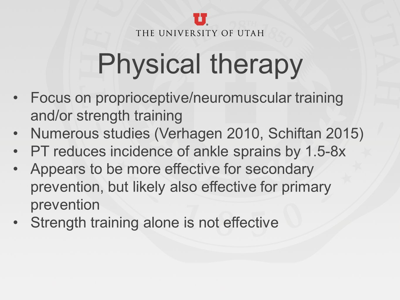 Ankle sprain physical therapy - 27 Physical Therapy