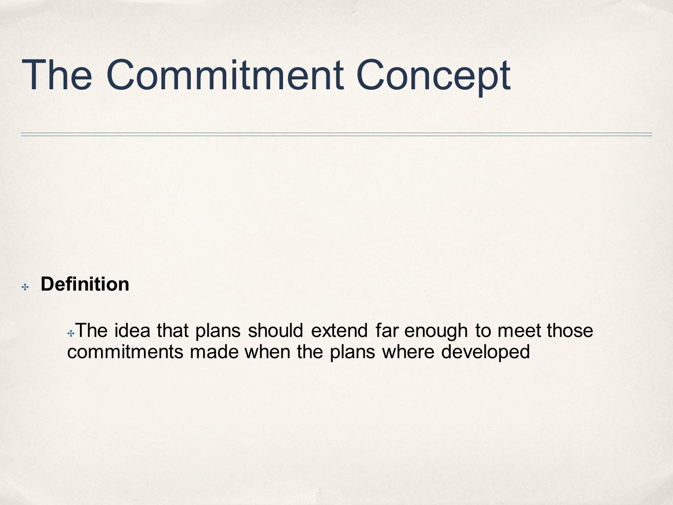 meet commitment definition