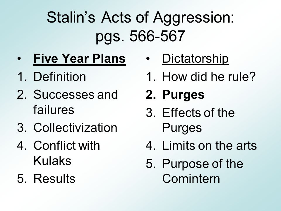 Essay on stalins 5 year plans