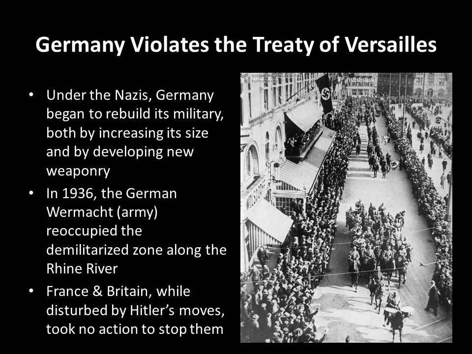 Image result for how did nazi germany violate the treaty of versailles