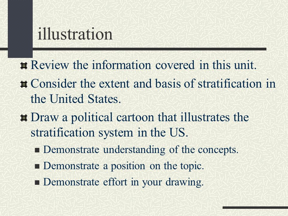 illustration Review the information covered in this unit.