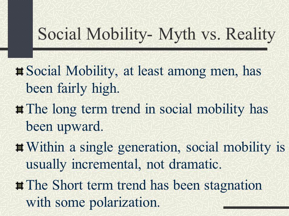 Social Mobility- Myth vs. Reality